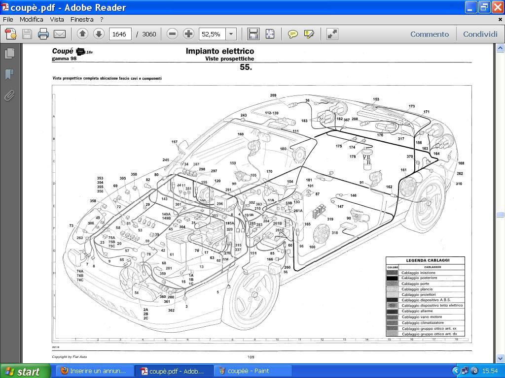 Fiat Coupe 20v Wiring Diagram  Fiat Coupe Turbo Plus 20v Fiat Coupe Wiring Diagram  Fiat Coupe