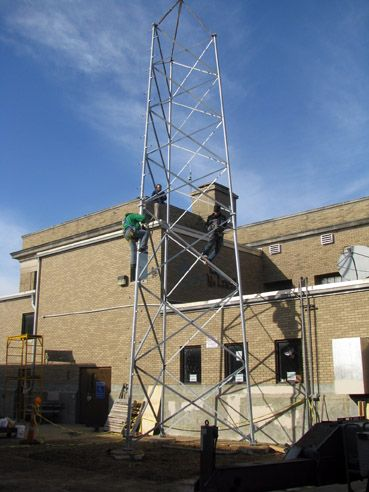 Second Section of New Tower Goes Up