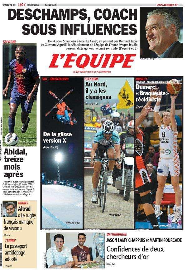 L'Equipe Mercredi 20 Mars 2013
