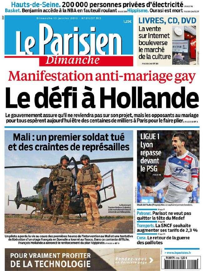 Le Parisien Dimanche 13 Janvier 2013