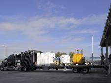 Image above: The shipping<br /> containers for the HTV-4 payloads<br /> are loaded for transport to Chicago.<br /> From there, they will be flown to<br /> Japan for launch.<br /> Image credit: NASA/Jim Grossmann <br /> <a href='http://www.nasa.gov/images/content/728890main_truck-lg_full.jpg' class='bbc_url' title='External link' rel='nofollow external'>� Full image and caption</a>